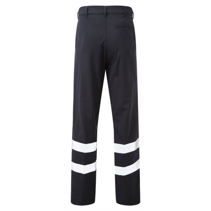 HAZTEC® Amna Flame Resistant Anti-Static Inherent Classic Trouser Navy Back