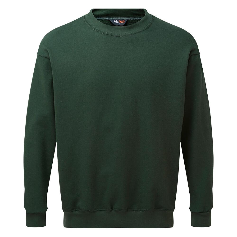 HAZTEC® Bakken Flame Resistant Anti-Static Inherent Sweatshirt Green Front