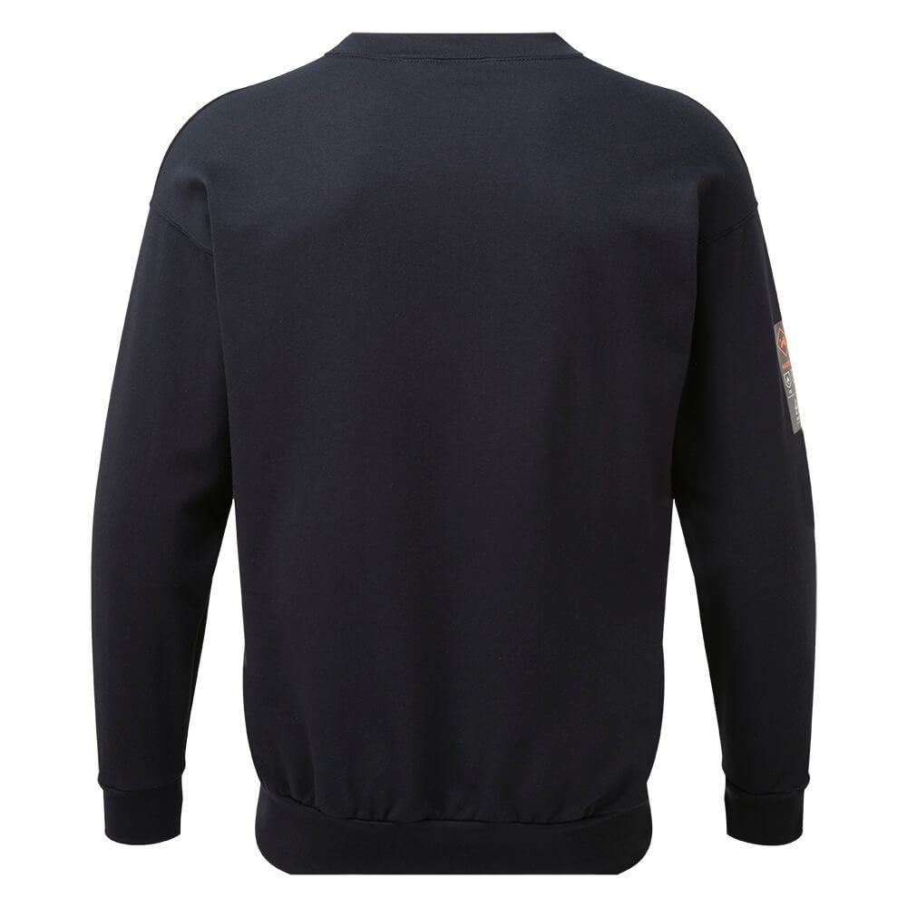 HAZTEC® Bakken Flame Resistant Anti-Static Inherent Sweatshirt Navy Back