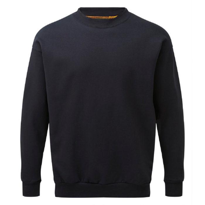 HAZTEC® Bakken Flame Resistant Anti-Static Inherent Sweatshirt Navy Front