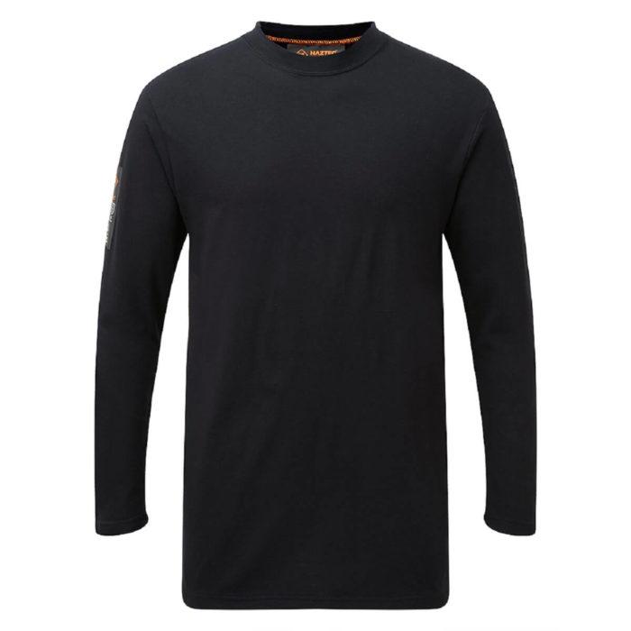 HAZTEC® Belanak Flame Resistant Anti-Static Inherent Long Sleeve T-Shirt Navy Front