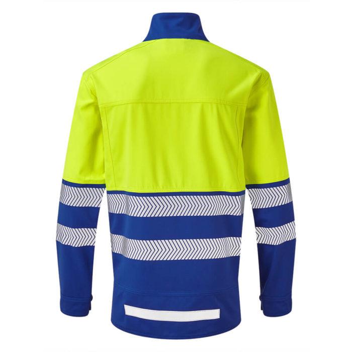HAZTEC® Dulang Flame Resistant Anti-Static Hi-Vis Jacket Yellow Royal Back