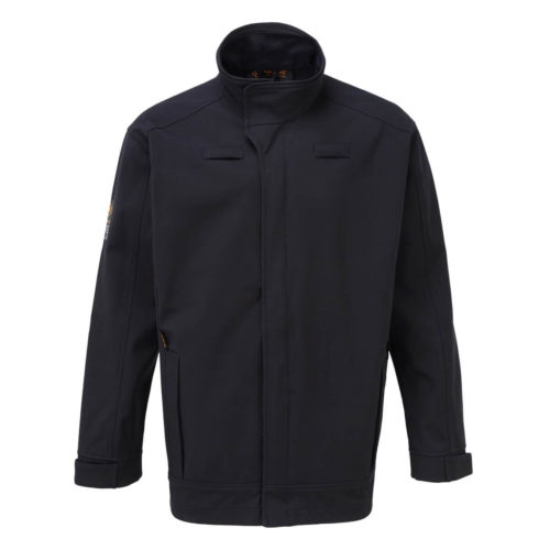 HAZTEC® Flame Resistant Anti-Static Inherent Softshell Navy Front