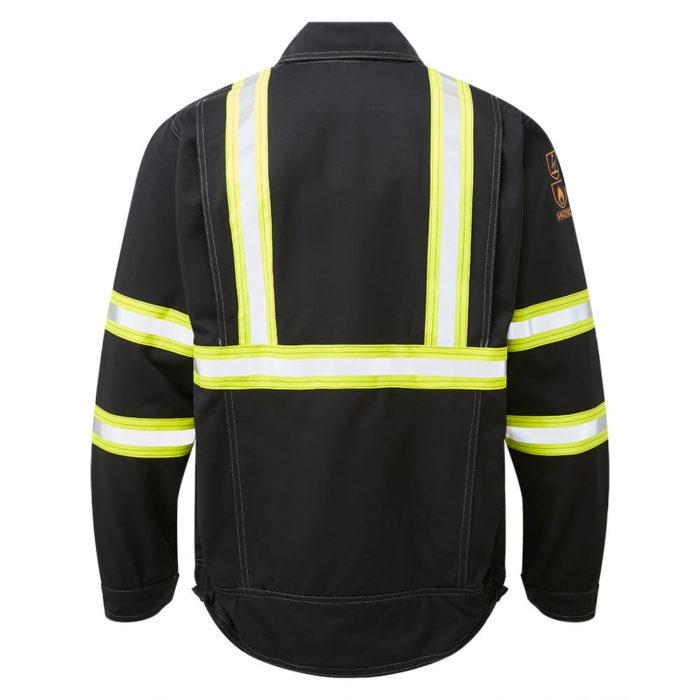 HAZTEC® Fulmar Flame Resistant Anti-Static Inherent Driver Jacket Black Back