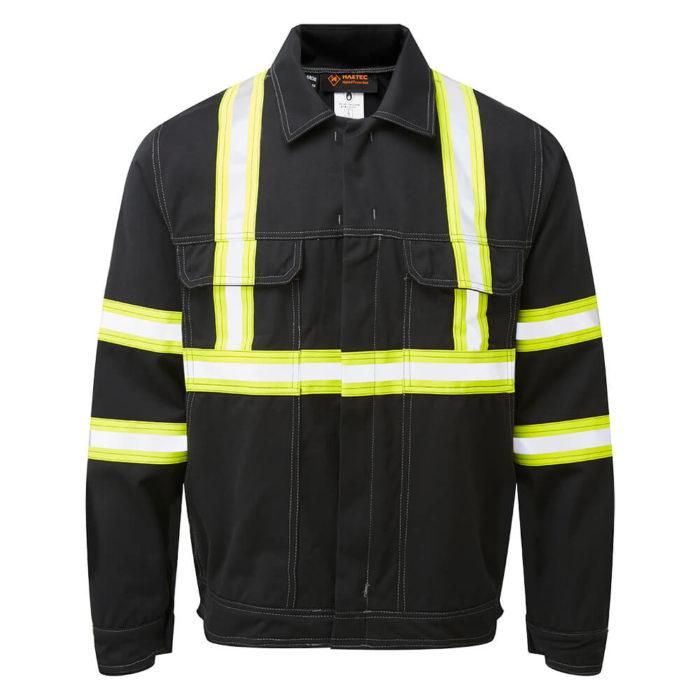 HAZTEC® Fulmar Flame Resistant Anti-Static Inherent Driver Jacket Black Front