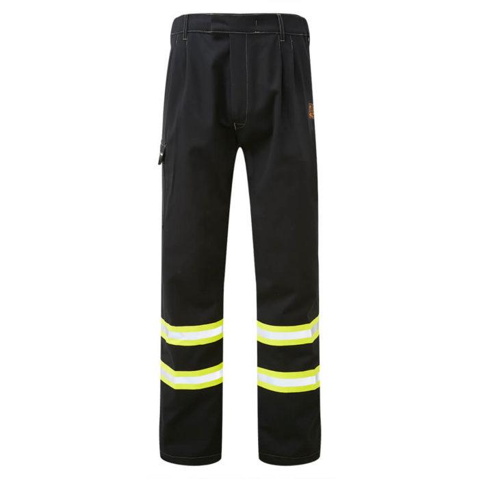 HAZTEC® Furrial Flame Resistant Anti-Static Inherent Combat Trouser Black Front