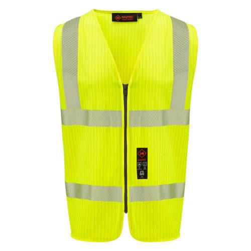 HAZTEC® Lavan Flame Retardant Anti-Static Hi-Visibility Waistcoat Yellow Front