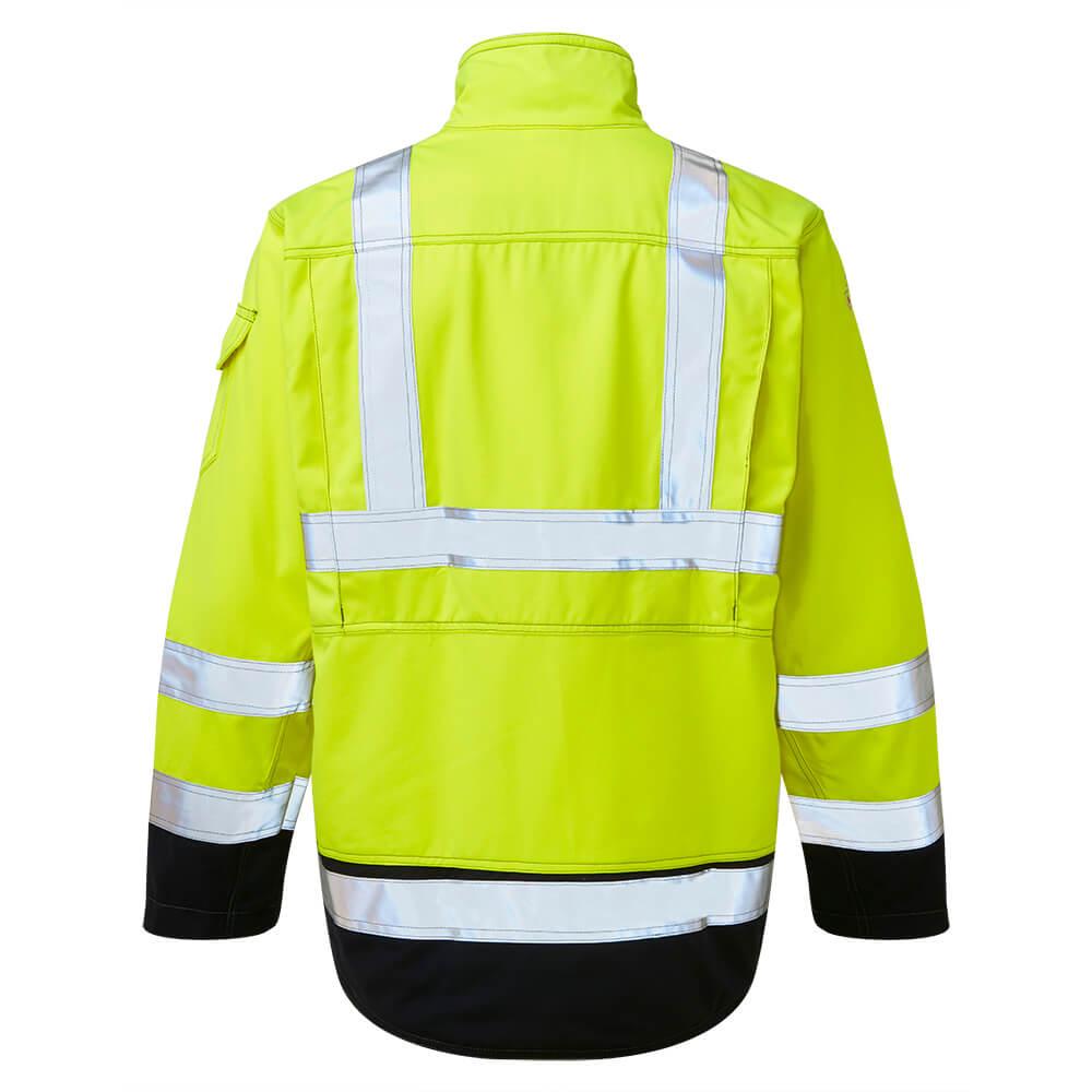 HAZTEC® Mondo Flame Resistant Anti-Static Hi-Vis Inherent Driver Jacket Yellow Back