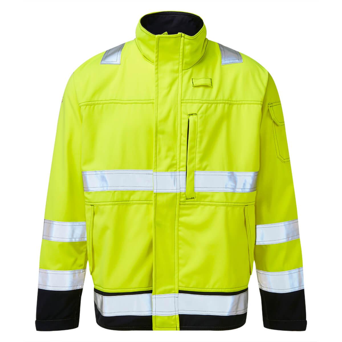 HAZTEC® Mondo Flame Resistant Anti-Static Hi-Vis Inherent Driver Jacket Yellow Front