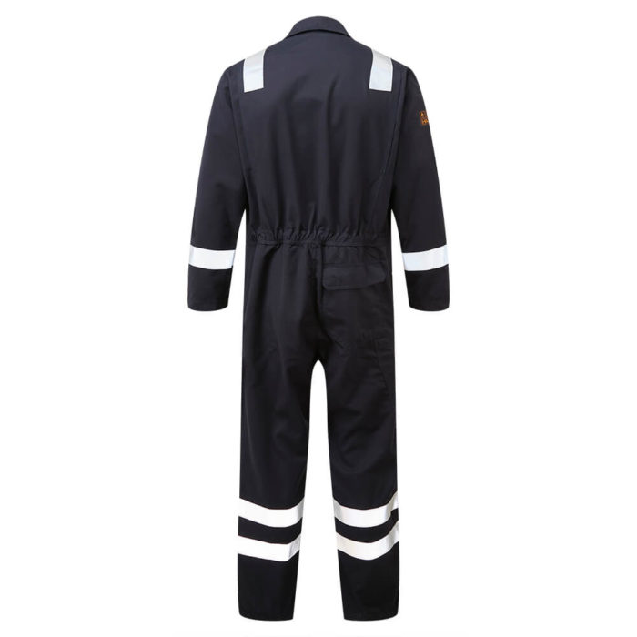 HAZTEC® Rincon Flame Resistant Anti-Static Inherent Coverall Navy Back