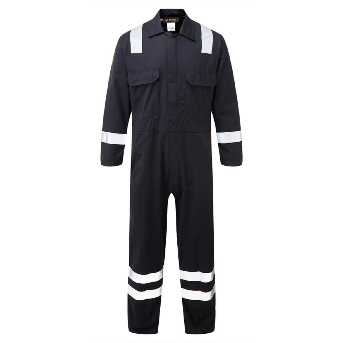 HAZTEC® Rincon Flame Resistant Anti-Static Inherent Coverall Navy Front
