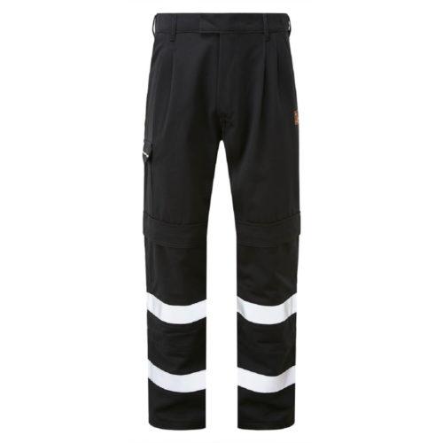 HAZTEC® Rossa Flame Resistant Anti-Static Inherent Knee-Pad Combat Trouser Navy Front
