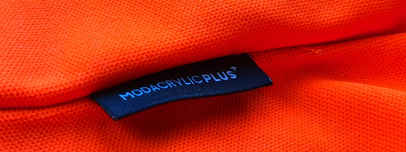 Modacrylic Plus Hi-Vis Orange Pique Knit