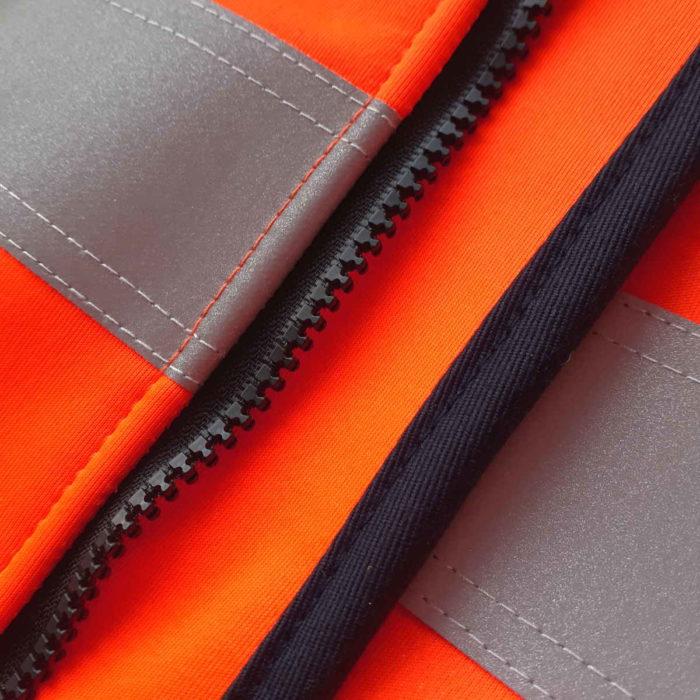 AS0059 HAZTEC® Cossack FR AS Hi-Vis Softshell Jacket_Zipper